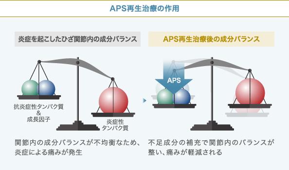 イメージ化したAPS療法の作用